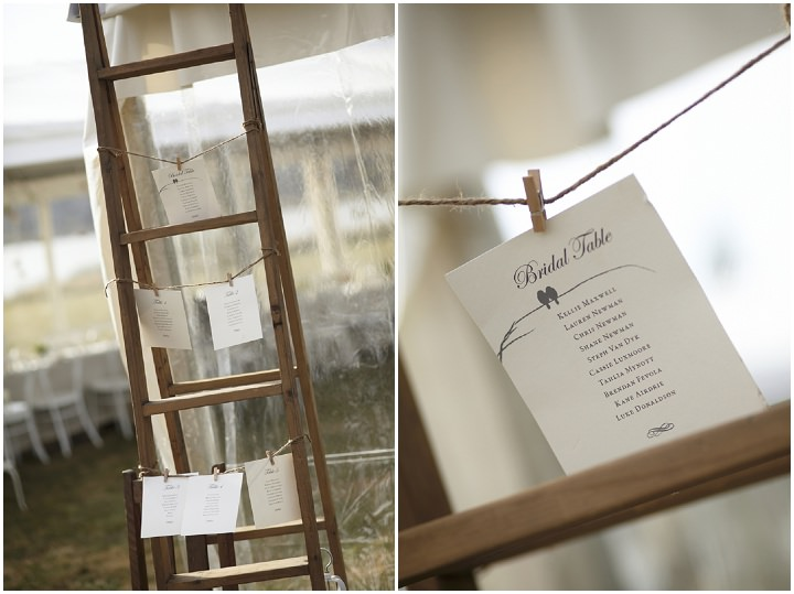 Elegant and Natural Outdoor Melbourne Wedding table plan By Blumenthal Photography