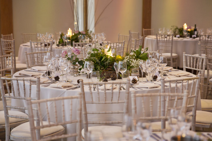 Rustic Winter Wedding reception setting By Mark Tattersall