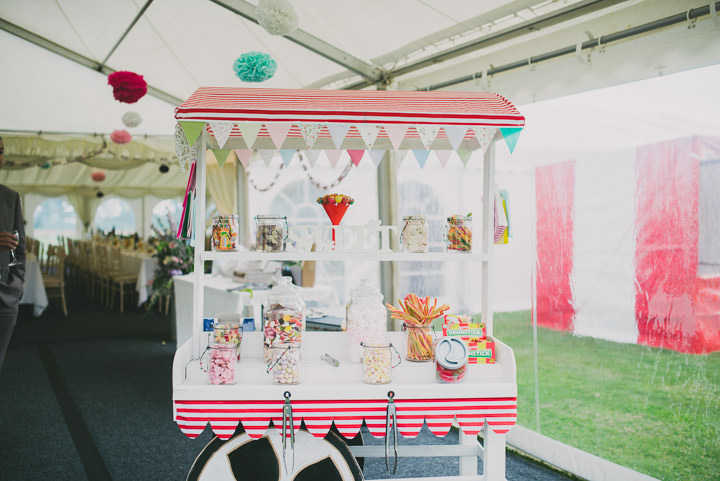 Somerset Wedding sweet cart By John Barwood Photography