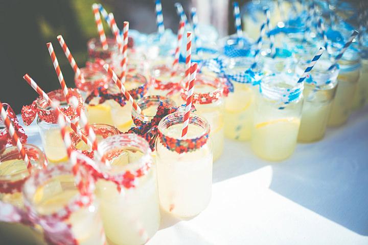 Retro Village Fete Wedding lemonade By Tom Halliday