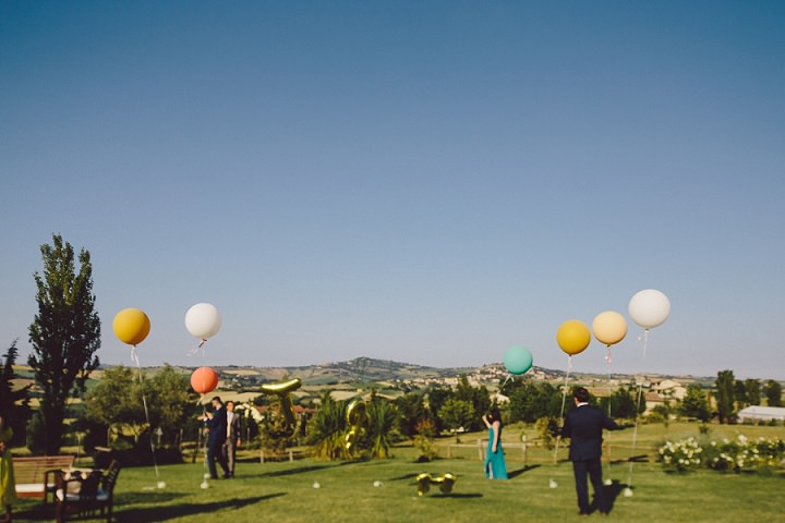 Rustic Luxe Italian Wedding balloons By Lato Photography