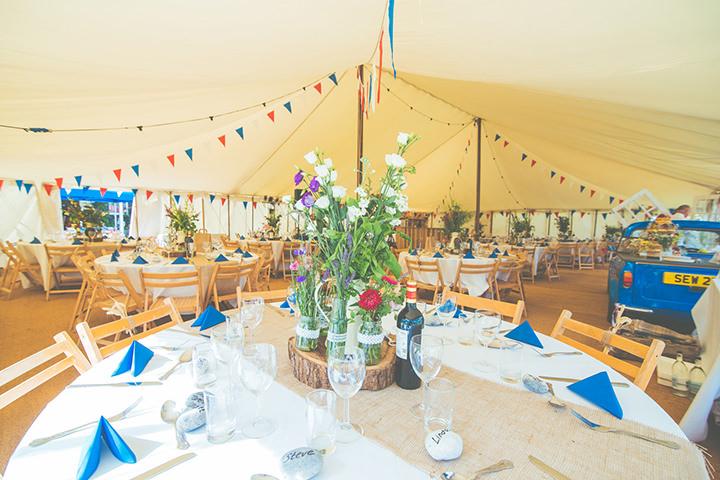 Retro Village Fete Wedding reception setting By Tom Halliday