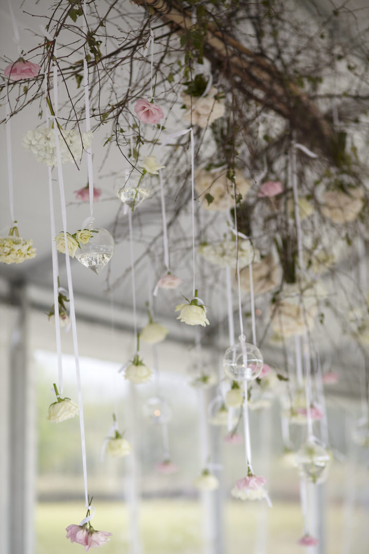 Elegant and Natural Outdoor Melbourne Wedding hanging flowers By Blumenthal Photography