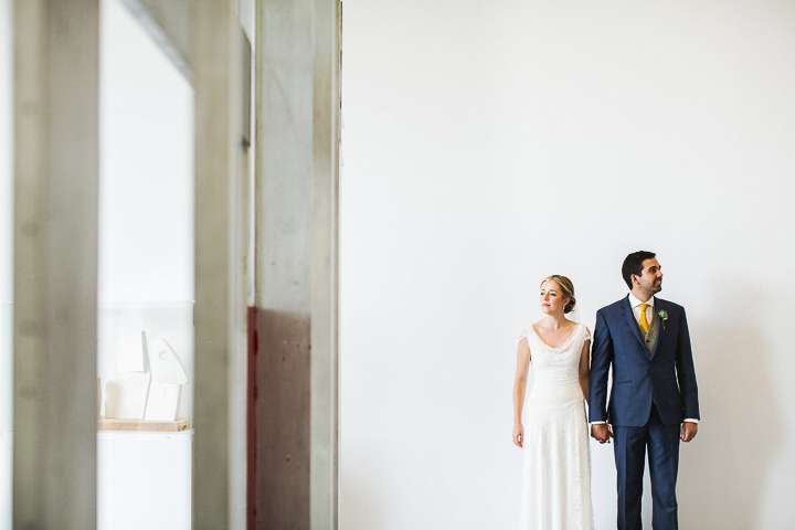 Modern Wedding bride and groom at The Hepworth By Matt Parry Photography