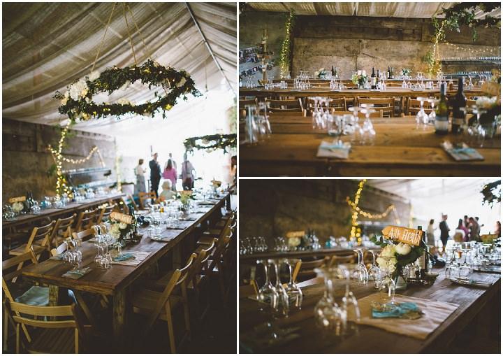Welsh Farm Wedding setting By Mike Plunkett Photography