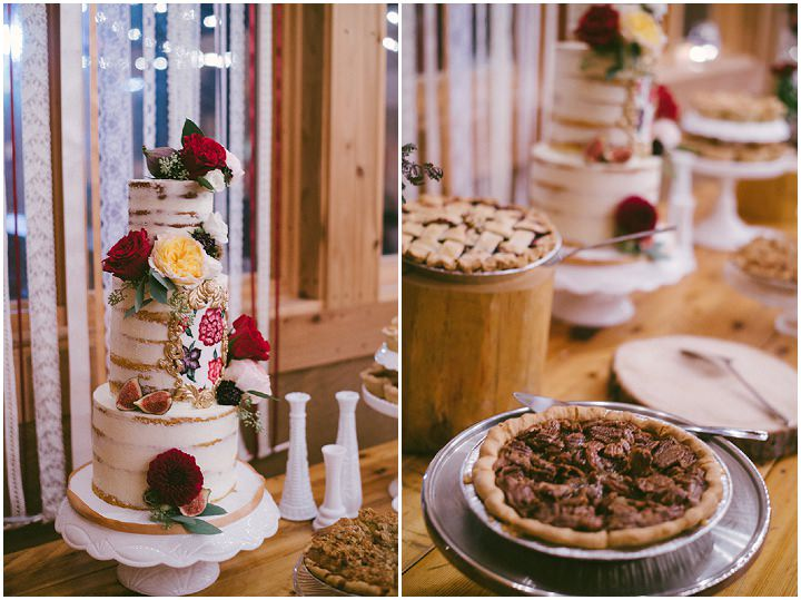 Canadian Camp Wedding cake table in two Parts By ME Creative