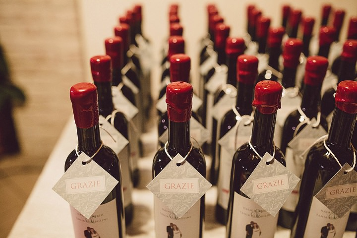 Rustic Luxe Italian Wedding wine By Lato Photography