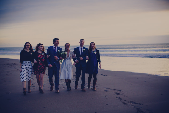 Cornish Elopement group images By Amy Sampson Photography