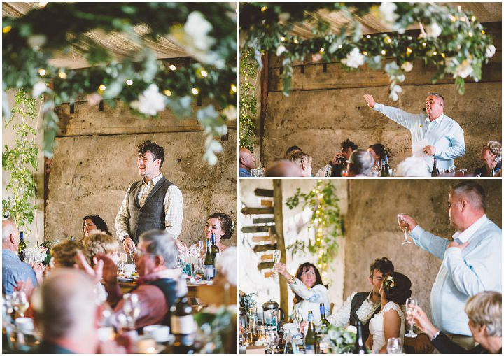 Welsh Farm Wedding speeches By Mike Plunkett Photography