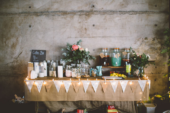 Welsh Farm Wedding station By Mike Plunkett Photography