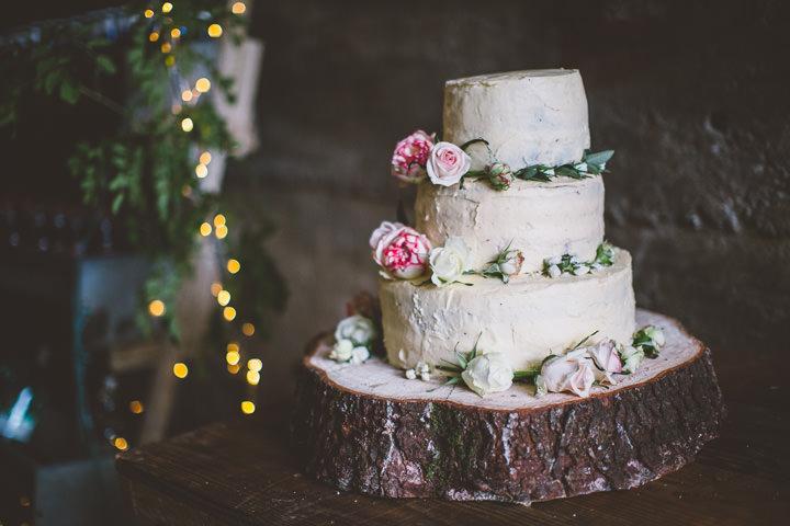 Welsh Farm Wedding cake By Mike Plunkett Photography