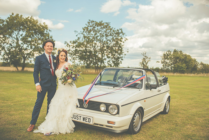Retro Village Fete cool couple Wedding By Tom Halliday