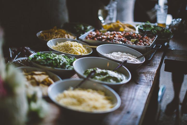 Welsh Farm Wedding food By Mike Plunkett Photography