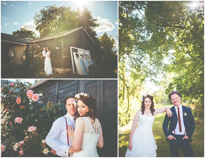 Retro Village Fete Wedding bridal portraits By Tom Halliday