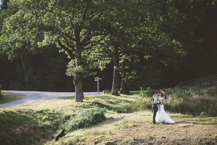 Welsh Farm Wedding bride and groom By Mike Plunkett Photography