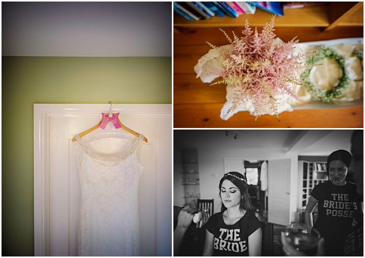 Homespun Barn Wedding at Elmley Nature Reserve bride prep in Kent By Photography By Vicki