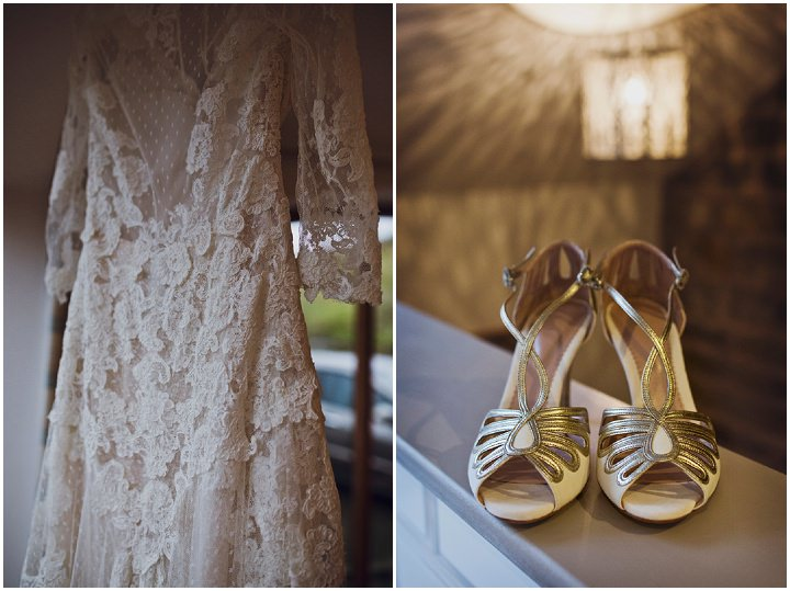 Rustic Winter Wedding dress and shoes By Mark Tattersall