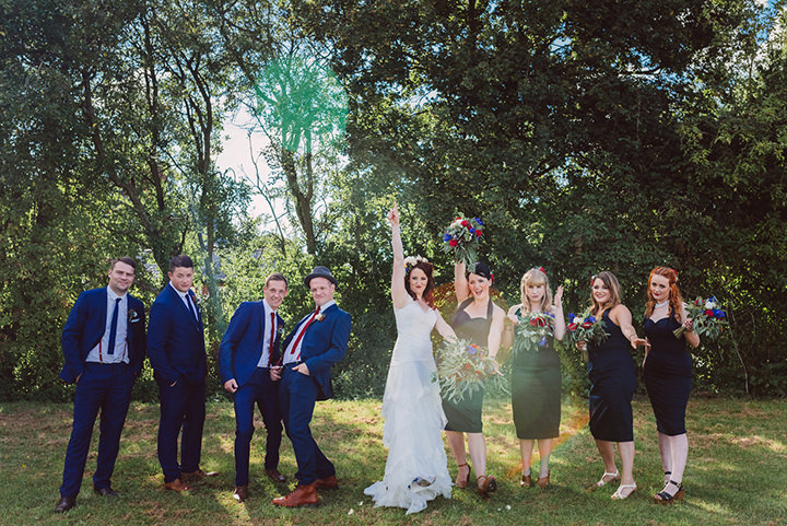 Retro Village Fete Wedding bridal party By Tom Halliday