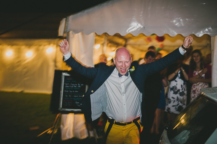 Somerset Wedding groom is happy By John Barwood Photography