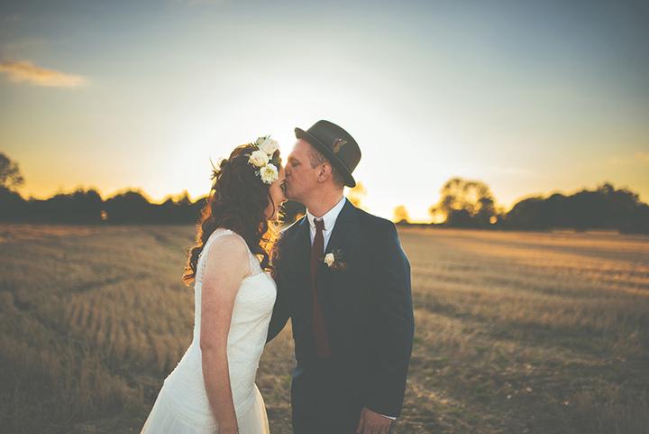 Retro Village Fete Wedding sunset By Tom Halliday