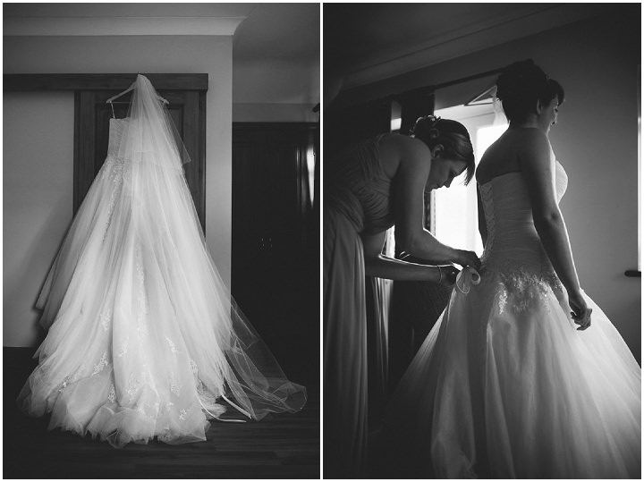 Somerset Wedding brides dress By John Barwood Photography