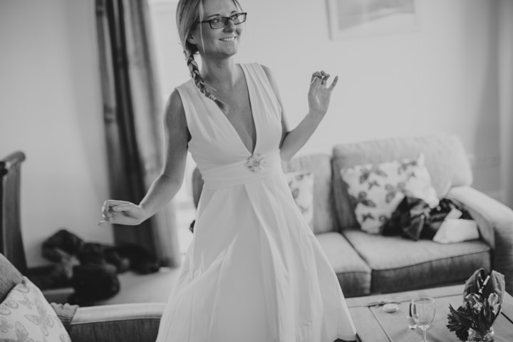 Cornish Elopement happy bride By Amy Sampson Photography