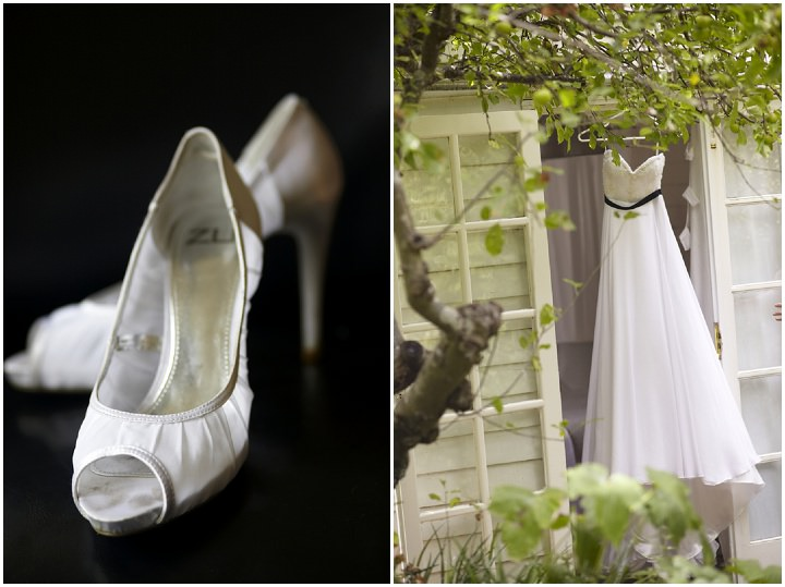 Elegant and Natural Outdoor Melbourne Wedding dress and shoes By Blumenthal PhotographyPhotography