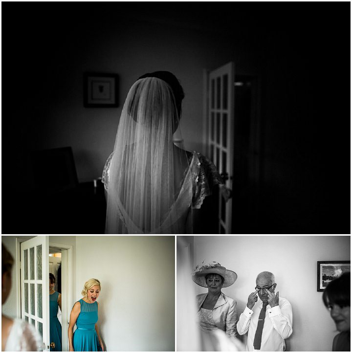 Modern Wedding bride wearing veil at The Hepworth By Matt Parry Photography