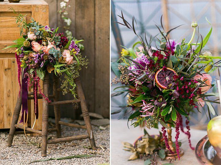 'Rustic Marsala Wedding Inspiration with a Touch of Glam'