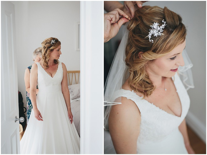 Wedding By Helen Lisk Photography at the fabulous Tunnels Beaches headpiece