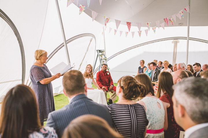 Kent Barn Wedding ceremony By One Love Pictures