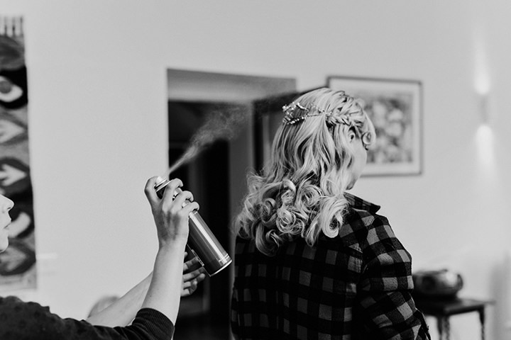 Barn Wedding bridal prep  in North Wales By Taylor Roades Photography