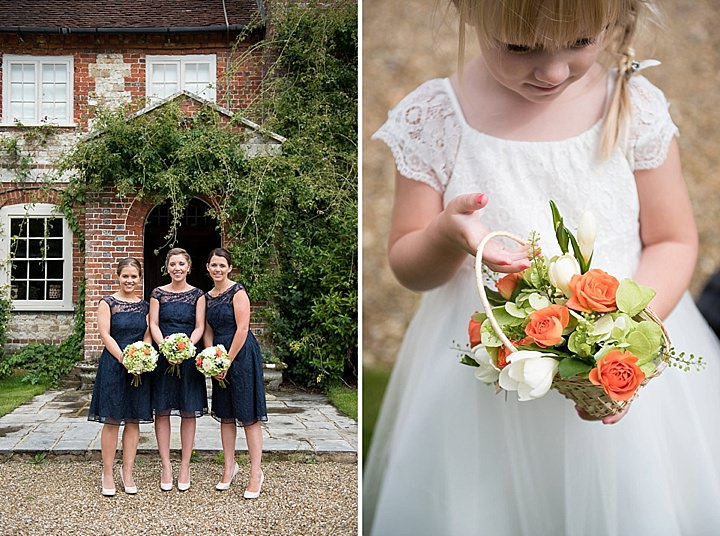 Manor Barn bridesmaids in Petersfield Wedding By Fiona Kelly Photography
