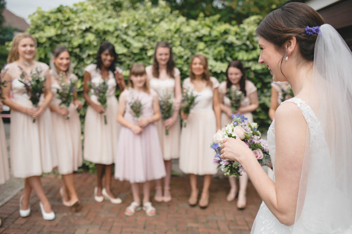 Summer Wedding bridal party in Nottingham By Grace Elizabeth Photography