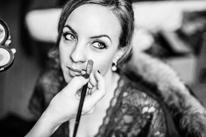 Wedding bridal prep at Bethnal Green Town Hall Hotel By Samie Lee Photography