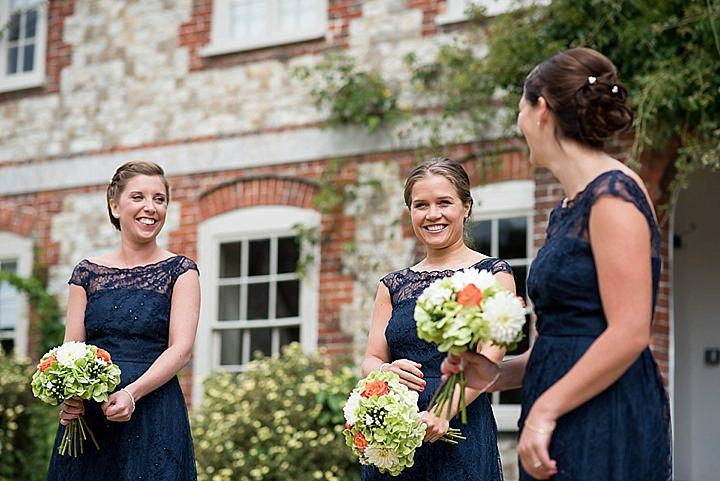 Manor Barn in Petersfield bridesmaids Wedding By Fiona Kelly Photography