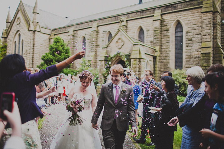 Wedding confetti at Quarry Bank Mill By Igor Demba Photography