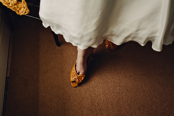 Barn Wedding shoes in North Wales By Taylor Roades Photography