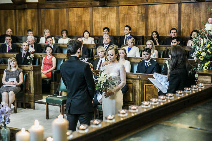 Wedding ceremony at Bethnal Green Town Hall Hotel By Samie Lee Photography
