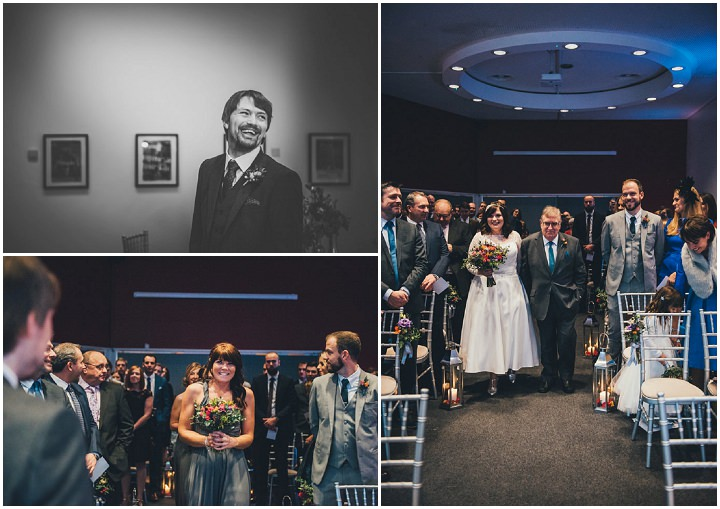 Wedding at The Lowry brodes arrival By Nicola Thompson Photography