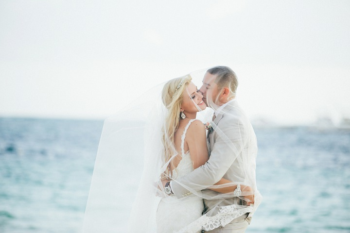 Beach wedding in the Dominican Republic By Asia Pimentel Photography bride and groom