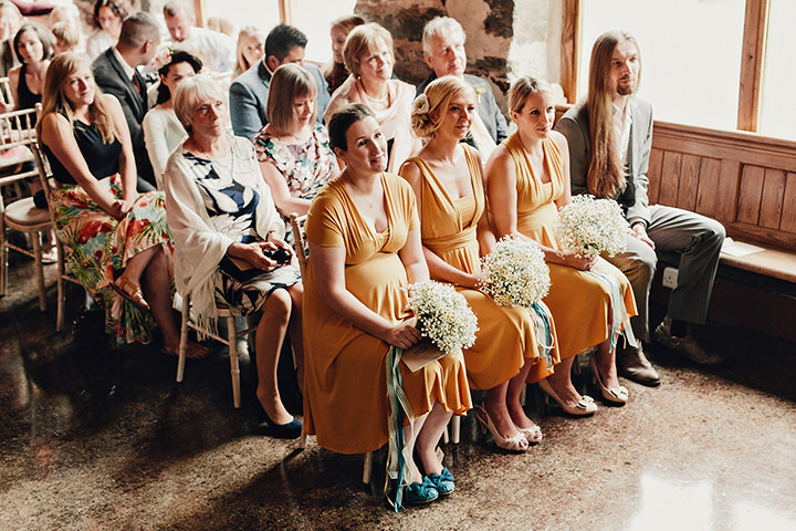 Barn Wedding bridesmaids in North Wales By Taylor Roades Photography