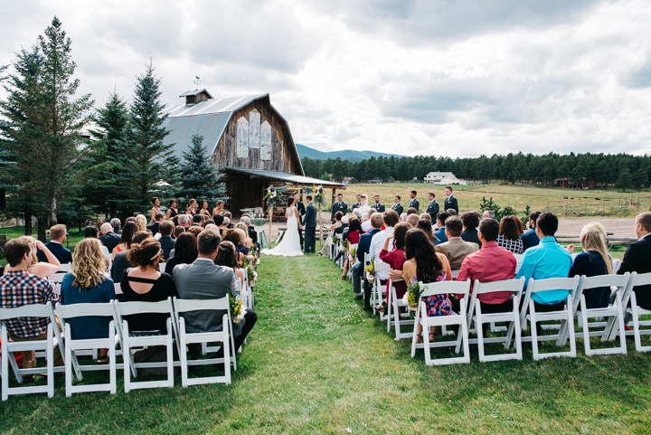Colorado Barn Wedding outdoor ceremony By Searching For The Light