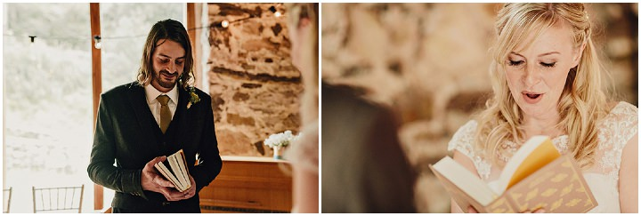 Barn Wedding readings in North Wales By Taylor Roades Photography