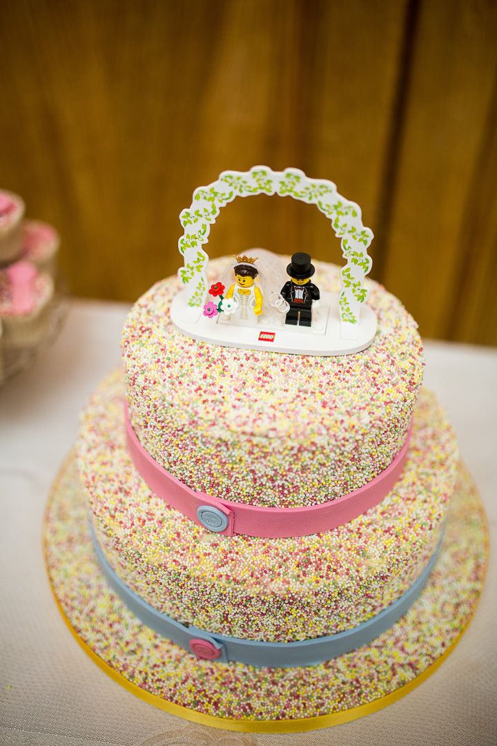 Fete Themed Wedding lego cake topper in Bakewell By Ayesha Photography