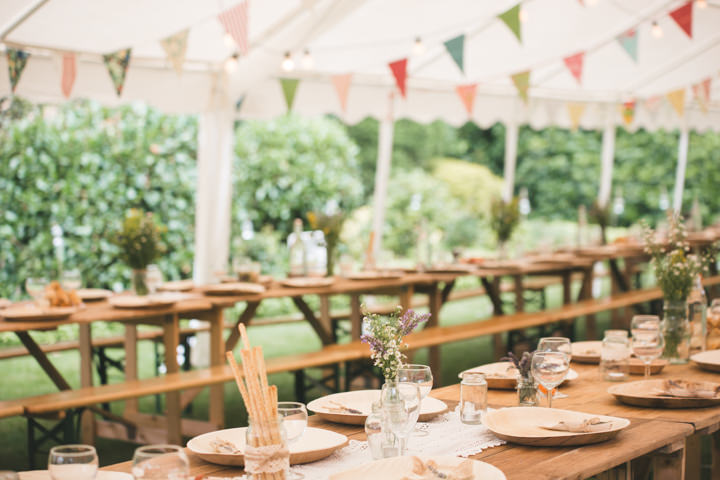 Summer Wedding reception setting in Nottingham By Grace Elizabeth Photography