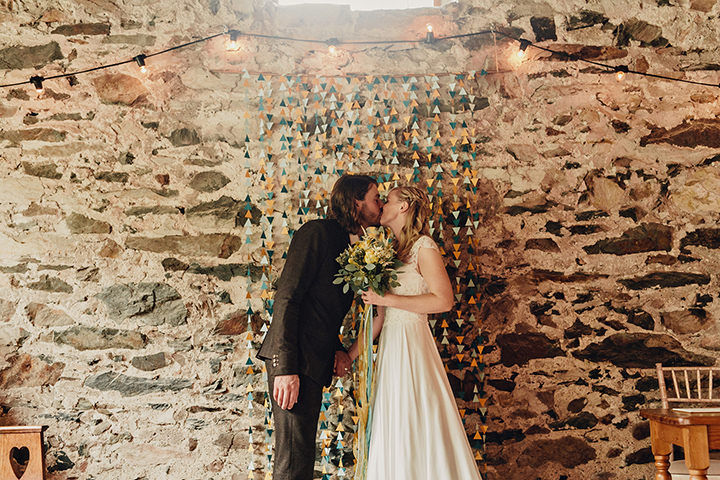 Barn Wedding just married in North Wales By Taylor Roades Photography