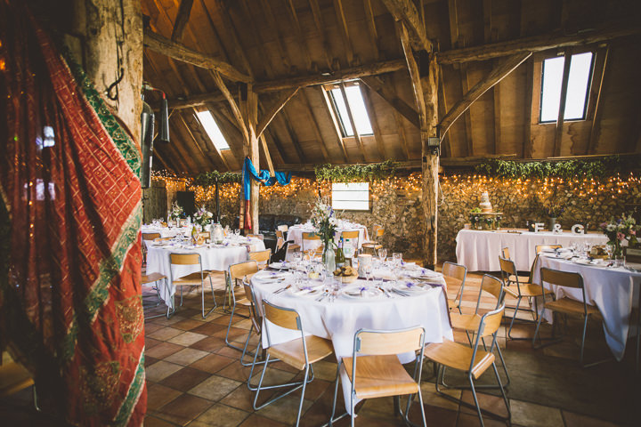 Kent Barn Wedding reception setting By One Love Pictures