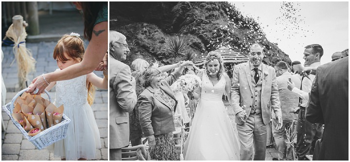 Wedding confetti By Helen Lisk Photography at the fabulous Tunnels Beaches