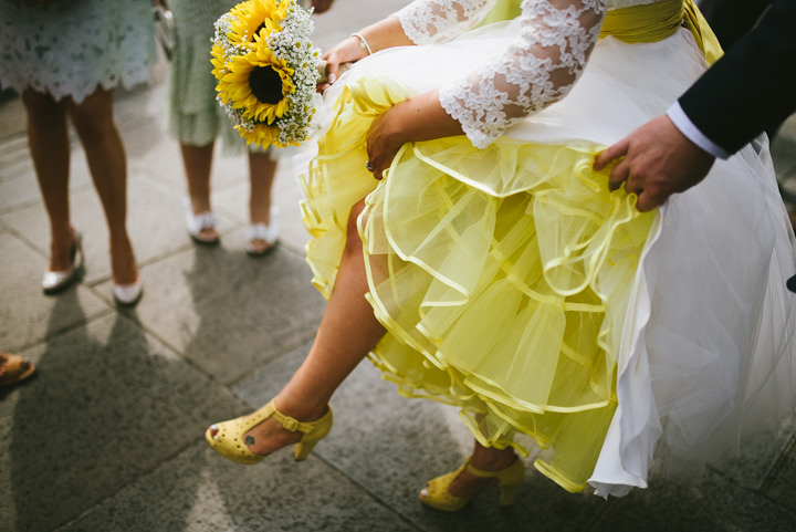 Yellow Wedding with a Candy Anthony Dress